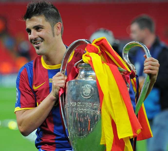Barcelona's Spanish forward David Villa