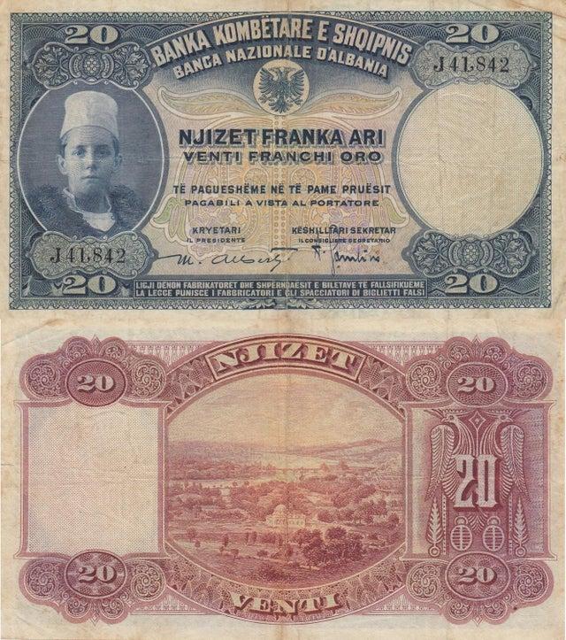 20 frank - leke shqipetar